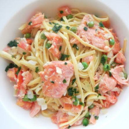 The Spicy Olives Smoked Salmon Linguine