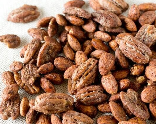 Sweet and Spicy Maple Glazed Nut Mix