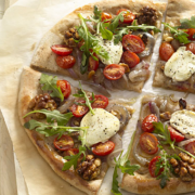 The Spicy Olive's Goat Cheese and Arugula Piz