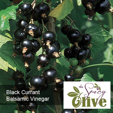The Spicy Olive Black Currant balsamic vinegar
