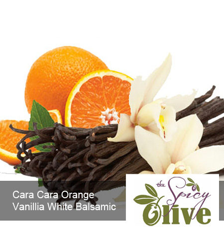 The Spicy Olive Cara Cara Orange Vanillia white balsamic