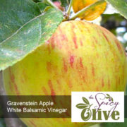 The Spicy Olive Gravenstein Apple white balsamic vinegar