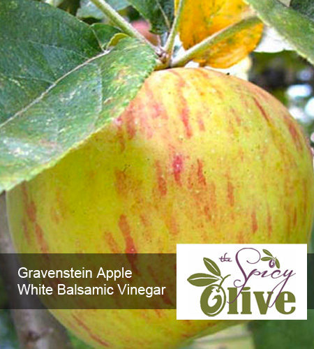 The Spicy Olive Gravenstein Apple white balsamic vinegar