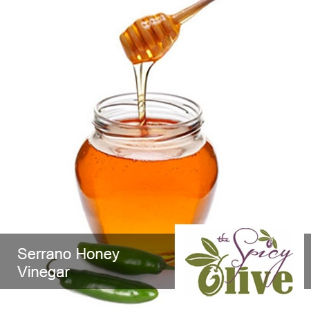 The Spicy Olive's Serrano Honey vinegar