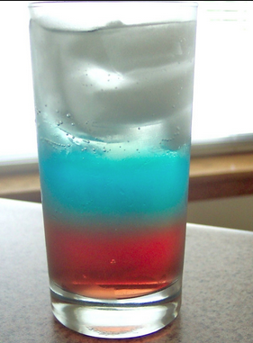 The Spicy Olive's Red, White, and Blue Cocktail