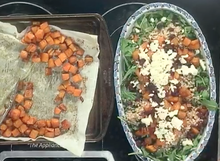 The Spicy Olive's Roasted Butternut Squash Farro Salad