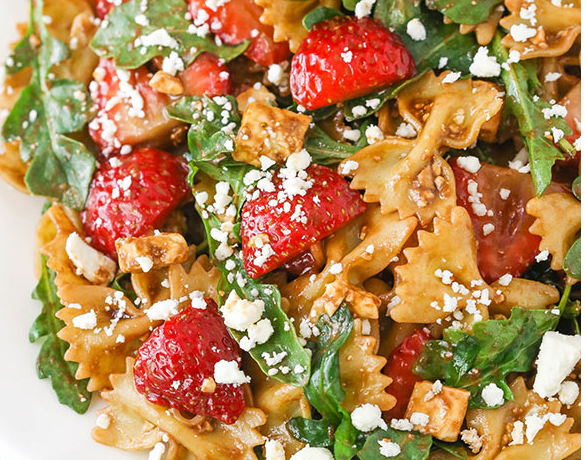 The Spicy Olive's Strawberry Pasta Salad