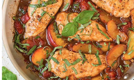 The Spicy Olive's Peach Balsamic Chicken