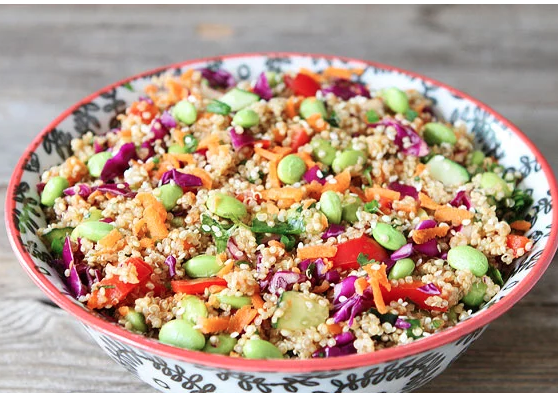 Asian Quinoa Edamama Salad