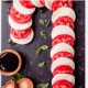 Spicy Olive Candy Cane Caprese Salad