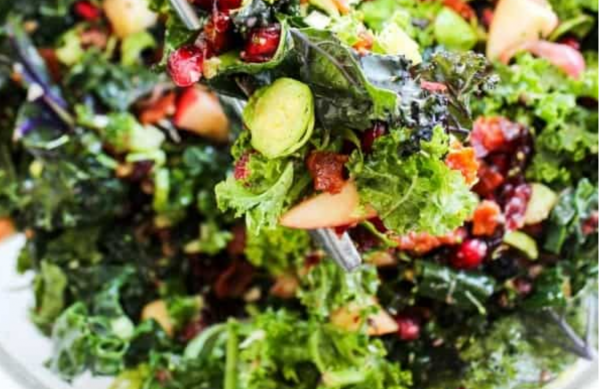 The Spicy Olive's Winter Kale Salad