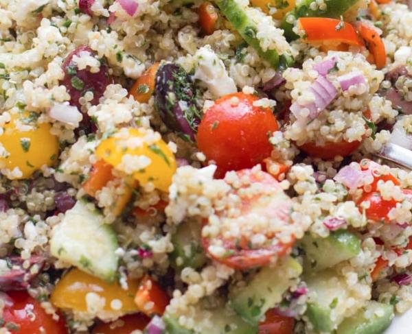 The Spicy Olive's Greek Quinoa Salad