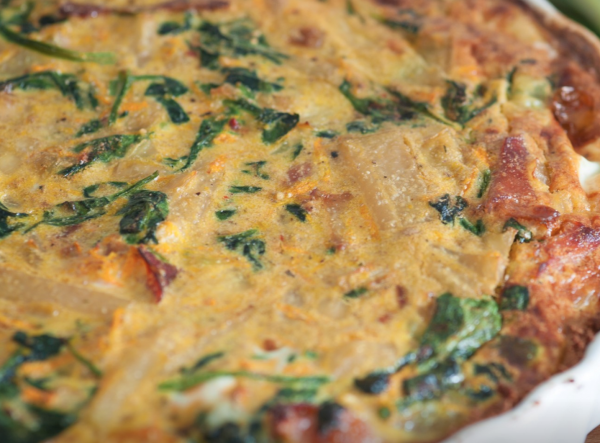 The Spicy Olive's Bacon Cheddar Spinach Quiche