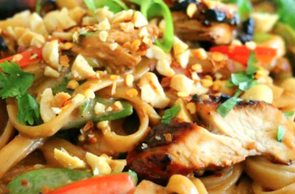 The Spicy Olive's Sesame Chicken Pasta