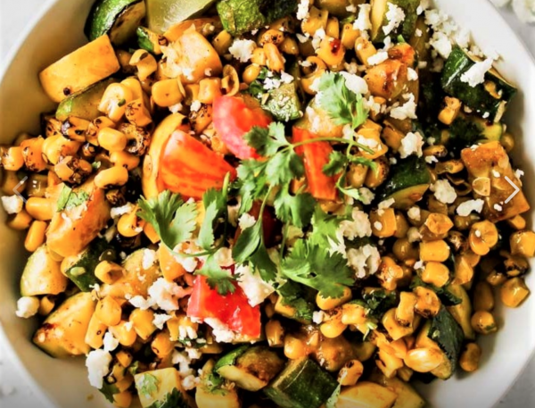 The Spicy Olive's Squash and Corn Salad
