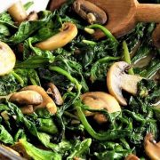 The Spicy Olive's Sauteed Spinach and Mushrooms