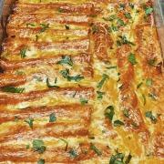 Spicy Oliv'es Baklouti Green Chili Chicken and Cheese Enchiladas